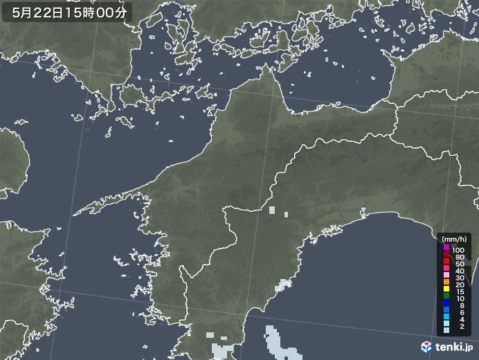 愛媛県の雨雲レーダー(2020年05月22日)