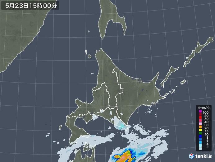北海道地方の雨雲レーダー(2020年05月23日)