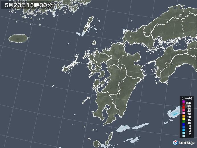 九州地方の雨雲レーダー(2020年05月23日)