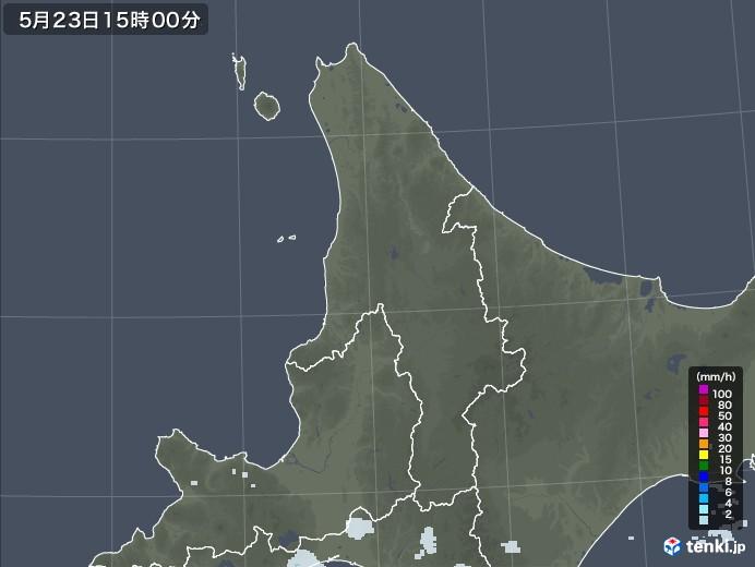 道北の雨雲レーダー(2020年05月23日)