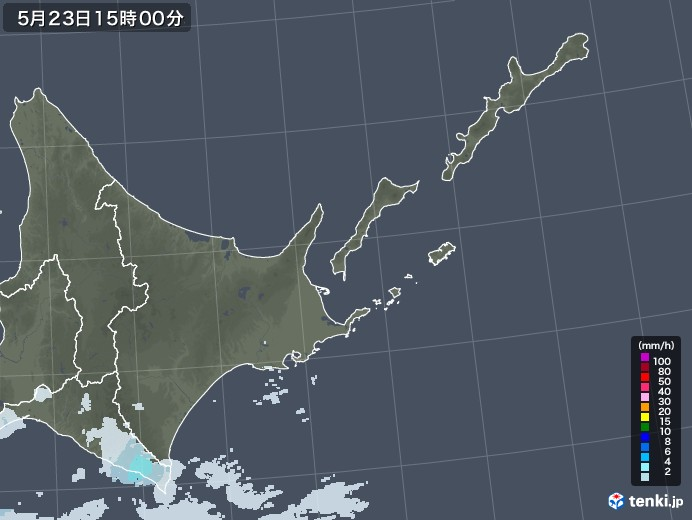 道東の雨雲レーダー(2020年05月23日)