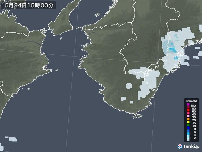 和歌山県の雨雲レーダー(2020年05月24日)