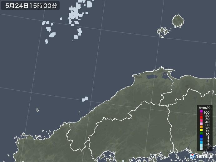 島根県の雨雲レーダー(2020年05月24日)