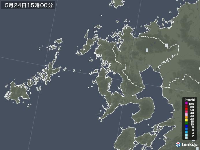 長崎県の雨雲レーダー(2020年05月24日)