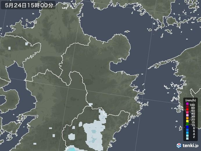 大分県の雨雲レーダー(2020年05月24日)