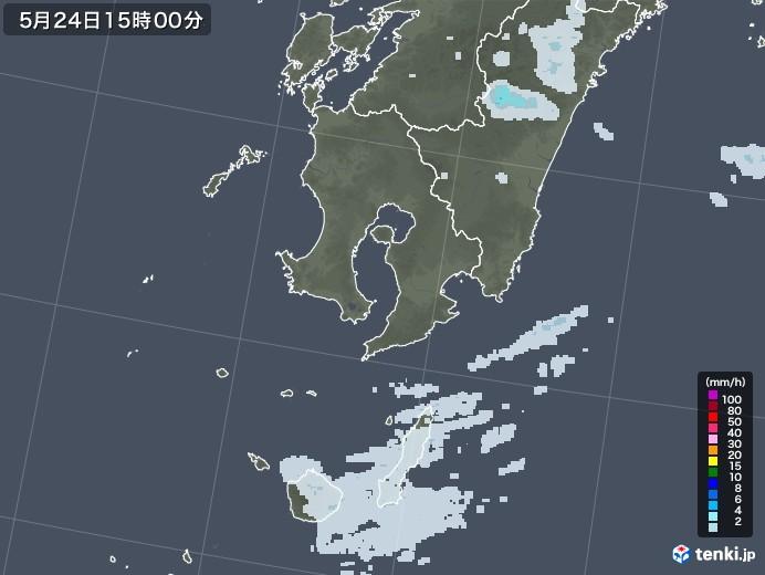 鹿児島県の雨雲レーダー(2020年05月24日)