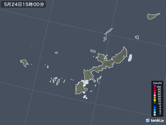 沖縄県の雨雲レーダー(2020年05月24日)