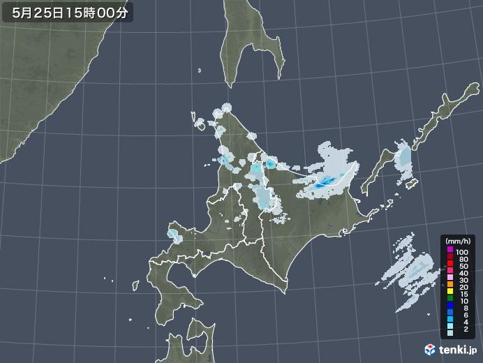 北海道地方の雨雲レーダー(2020年05月25日)