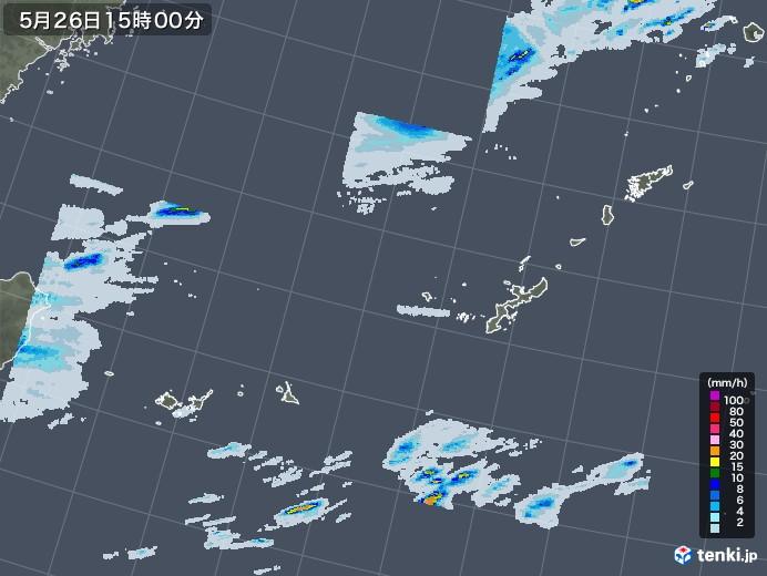沖縄地方の雨雲レーダー(2020年05月26日)