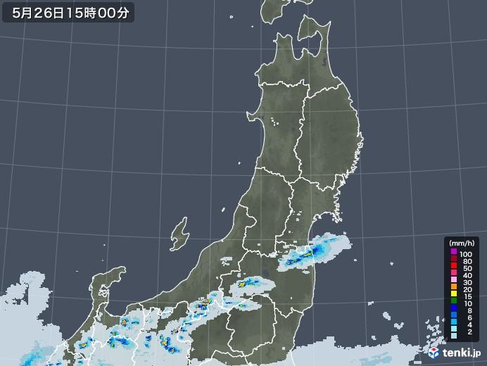東北地方の雨雲レーダー(2020年05月26日)