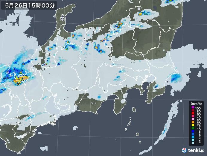関東・甲信地方の雨雲レーダー(2020年05月26日)