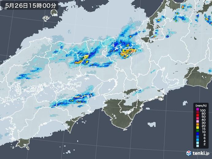 近畿地方の雨雲レーダー(2020年05月26日)
