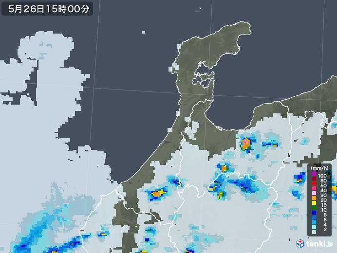 石川県の雨雲レーダー(2020年05月26日)