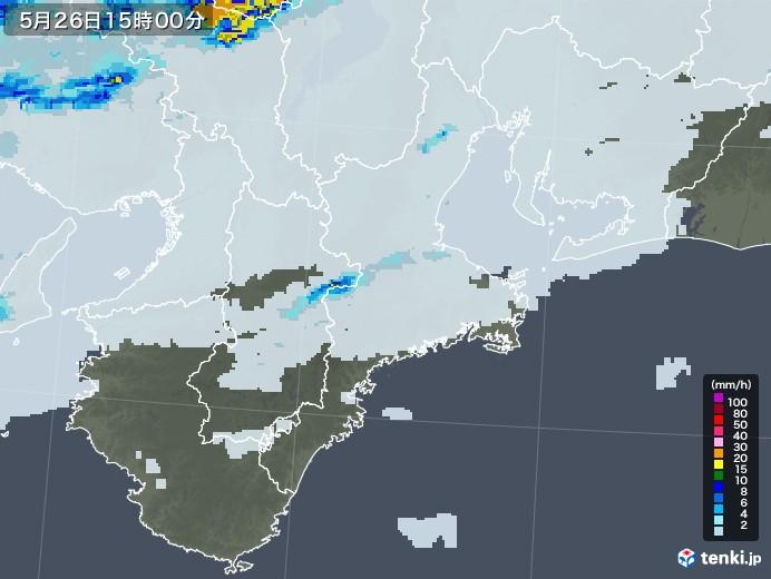 三重県の雨雲レーダー(2020年05月26日)