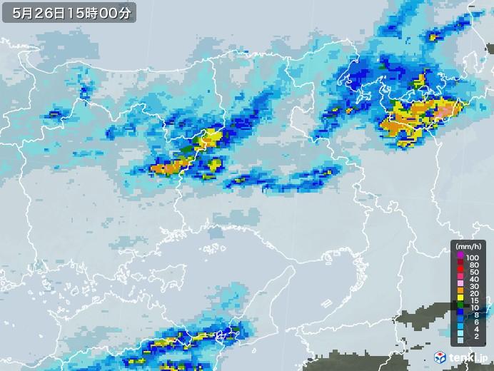兵庫県の雨雲レーダー(2020年05月26日)