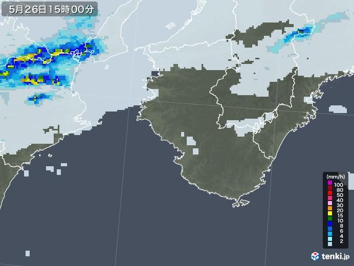 和歌山県の雨雲レーダー(2020年05月26日)