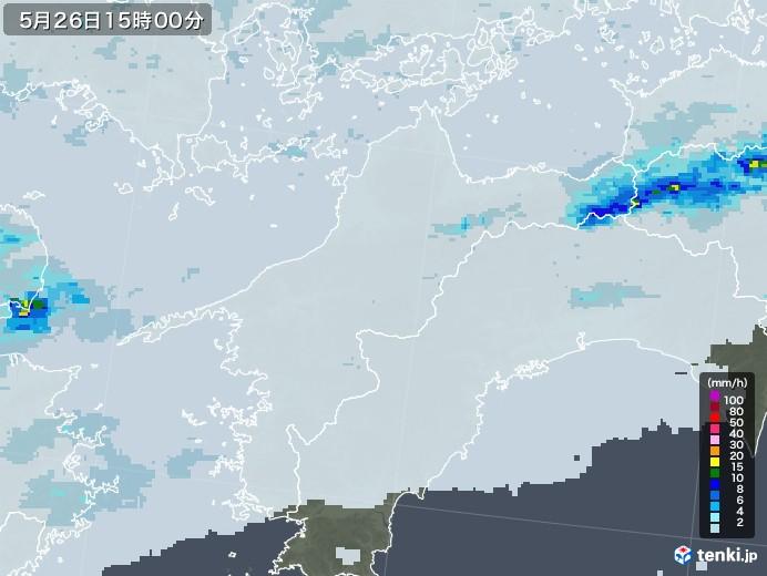 愛媛県の雨雲レーダー(2020年05月26日)