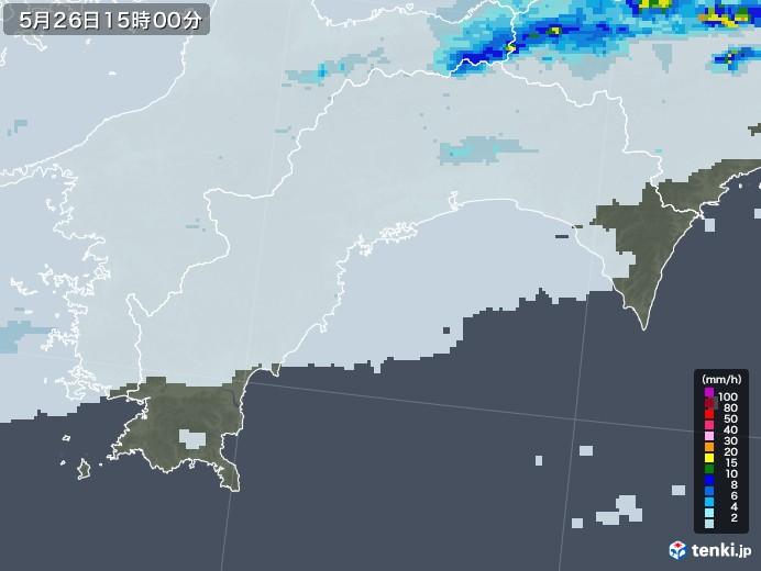 高知県の雨雲レーダー(2020年05月26日)