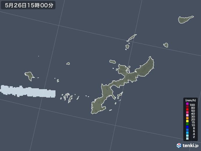 沖縄県の雨雲レーダー(2020年05月26日)