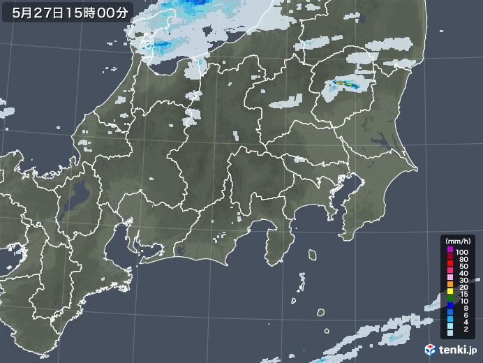 関東・甲信地方の雨雲レーダー(2020年05月27日)
