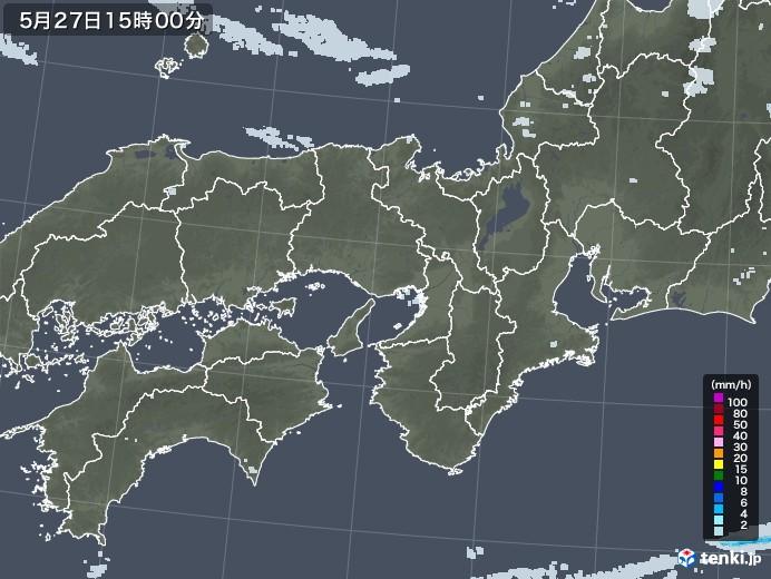 近畿地方の雨雲レーダー(2020年05月27日)
