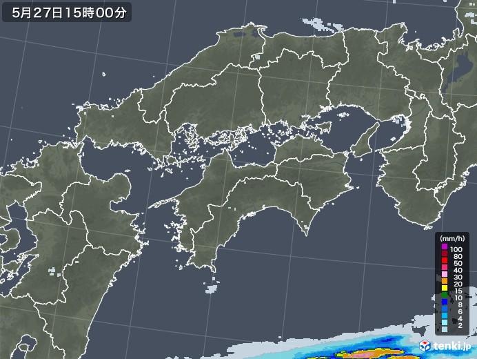 四国地方の雨雲レーダー(2020年05月27日)