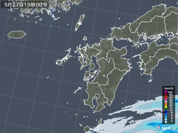 九州地方の雨雲レーダー(2020年05月27日)