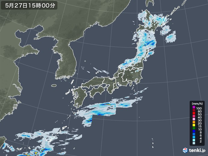 雨雲レーダー(2020年05月27日)