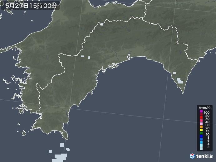 高知県の雨雲レーダー(2020年05月27日)