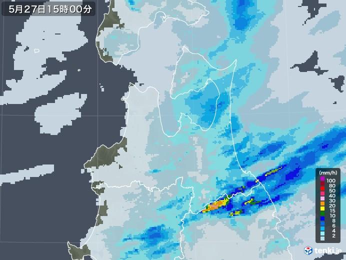 青森県の雨雲レーダー(2020年05月27日)