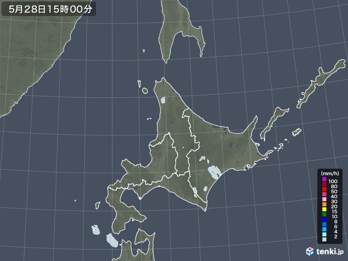 北海道地方の雨雲レーダー(2020年05月28日)