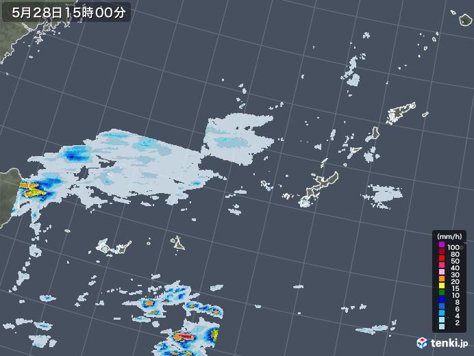 沖縄地方の雨雲レーダー(2020年05月28日)