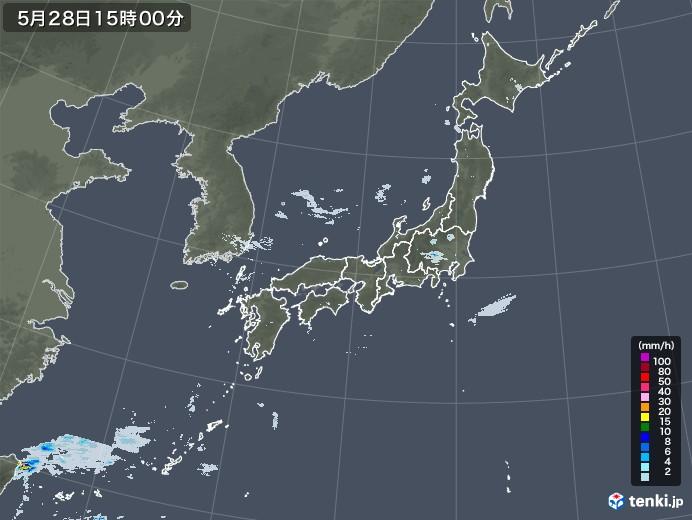 雨雲レーダー(2020年05月28日)