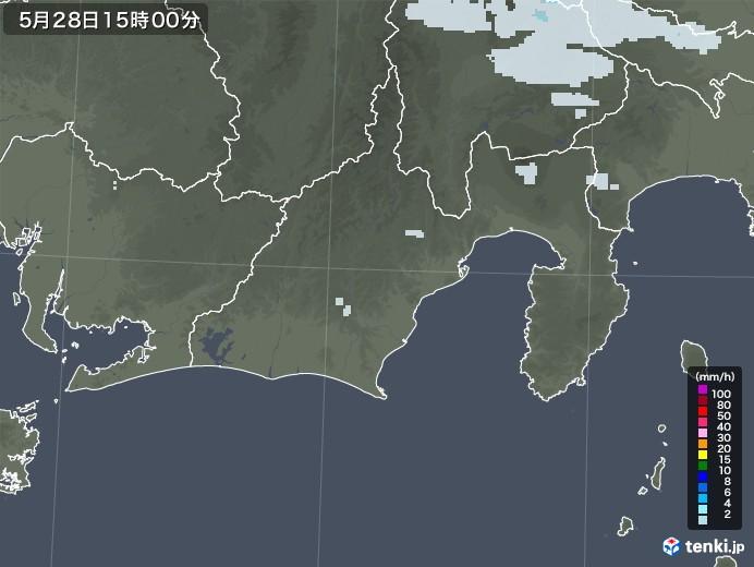 静岡県の雨雲レーダー(2020年05月28日)