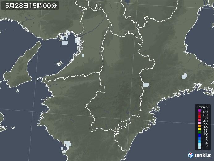 奈良県の雨雲レーダー(2020年05月28日)
