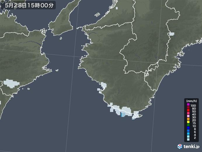 和歌山県の雨雲レーダー(2020年05月28日)