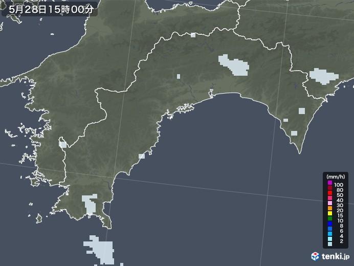 高知県の雨雲レーダー(2020年05月28日)