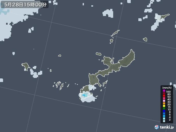 沖縄県の雨雲レーダー(2020年05月28日)