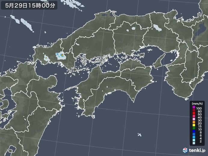 四国地方の雨雲レーダー(2020年05月29日)