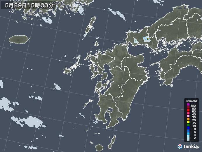 九州地方の雨雲レーダー(2020年05月29日)