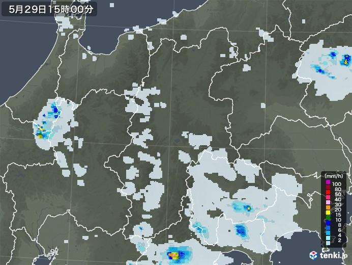 長野県の雨雲レーダー(2020年05月29日)