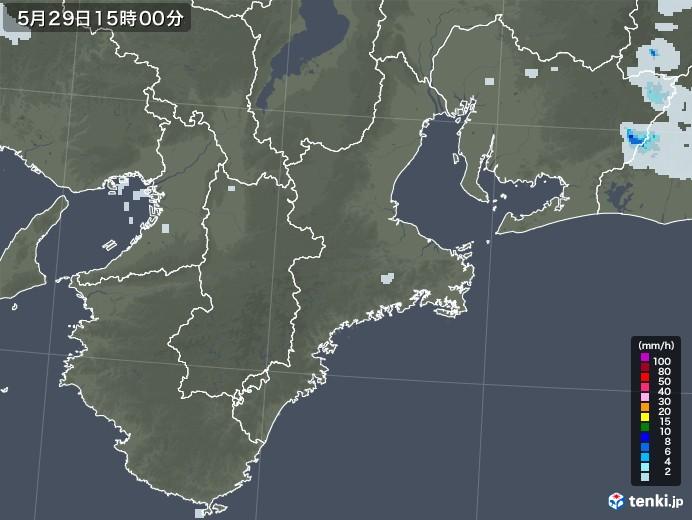 三重県の雨雲レーダー(2020年05月29日)