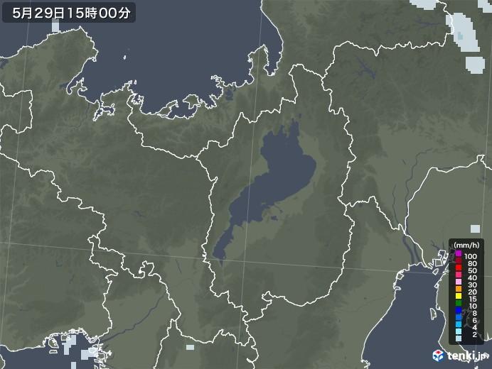 滋賀県の雨雲レーダー(2020年05月29日)