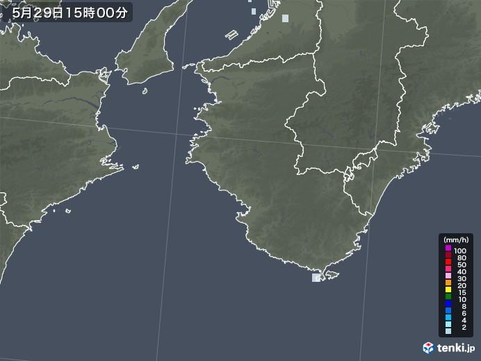 和歌山県の雨雲レーダー(2020年05月29日)