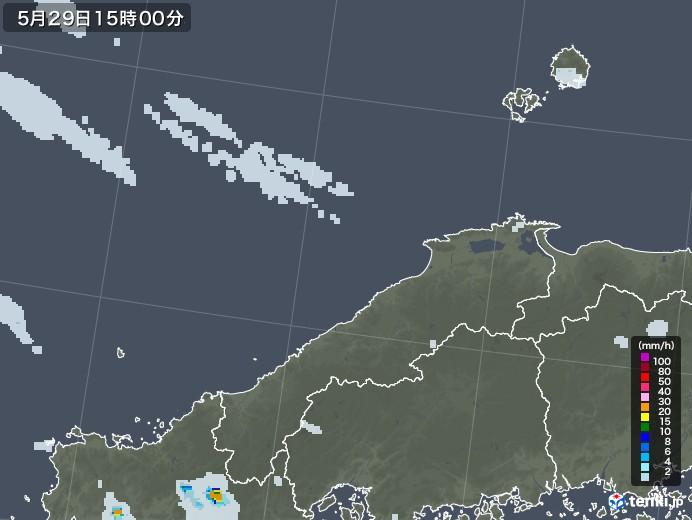 島根県の雨雲レーダー(2020年05月29日)