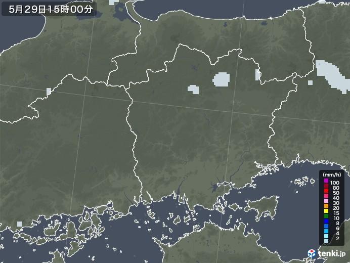 岡山県の雨雲レーダー(2020年05月29日)
