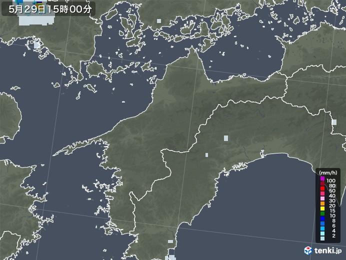 愛媛県の雨雲レーダー(2020年05月29日)