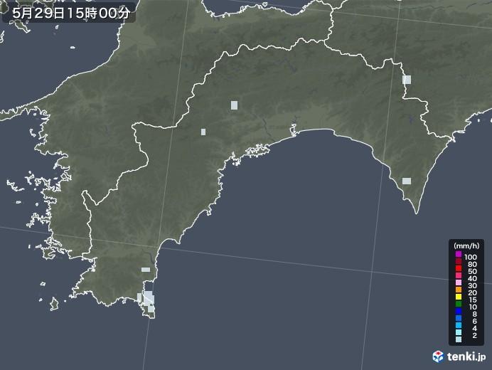 高知県の雨雲レーダー(2020年05月29日)