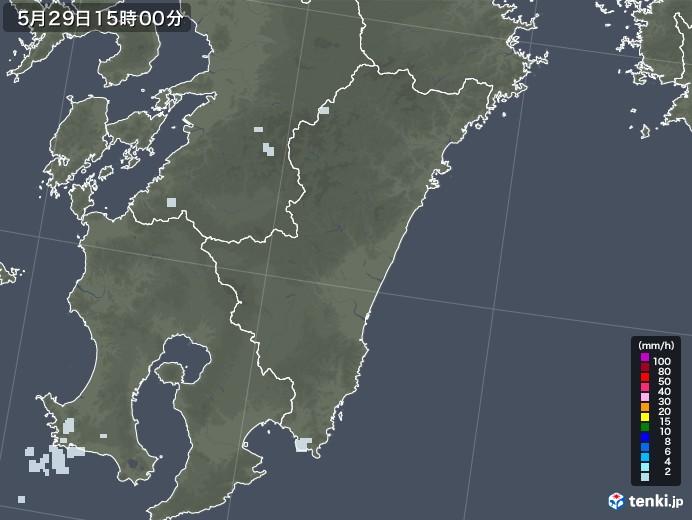 宮崎県の雨雲レーダー(2020年05月29日)