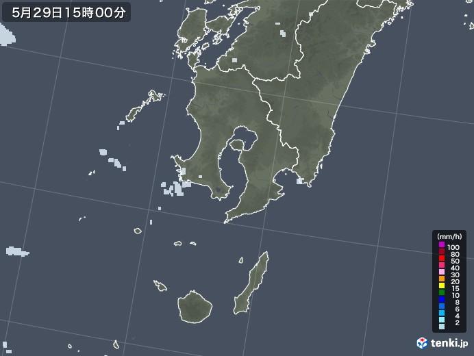 鹿児島県の雨雲レーダー(2020年05月29日)